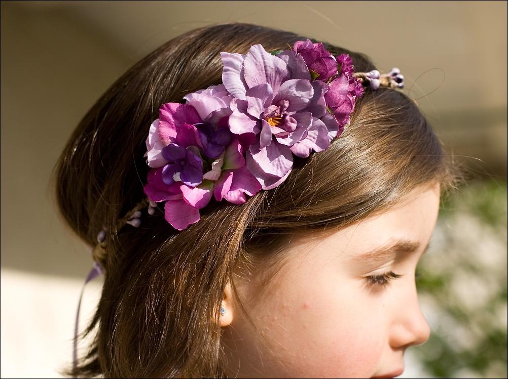 Accessoire cheveux petite fille mariage